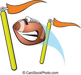 Vector illustration of a football field goal.