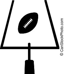 Field goal with american football