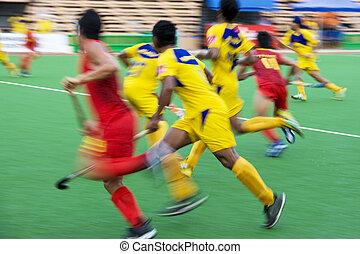 Field Hockey Action (Blurred)