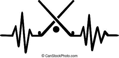 Field hockey heartbeat line german