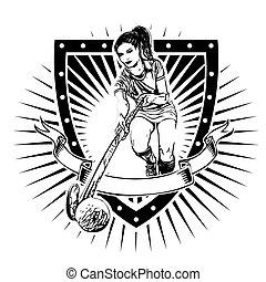 field hockey shield