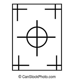 Field icon, outline style