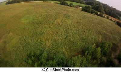 Field landscape aerial view.