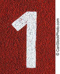 Field Markings - Stenciled numbers - 1