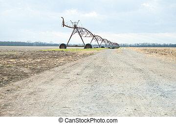 Field Mobile Irrigation Close