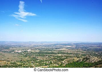 Field of alentejo region, Marvao,Portugal.