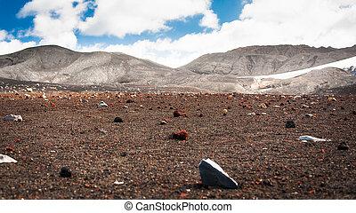 Field of stones in Deception island, Antarctica