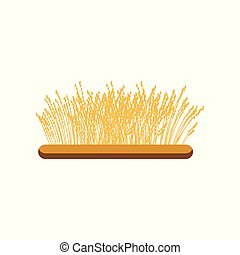 Field of wheat vector Illustration on a white background