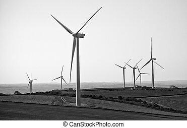 Field of wind turbines in BW