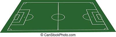 field., piłka nożna, trawa, zielona piłka nożna
