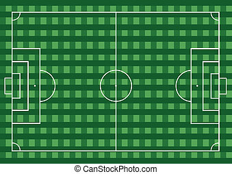 field., voetbal, gras, groen football