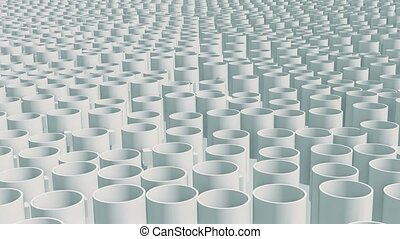 Field with moving mugs