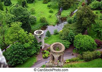Fields around Blarney Castle in Ireland