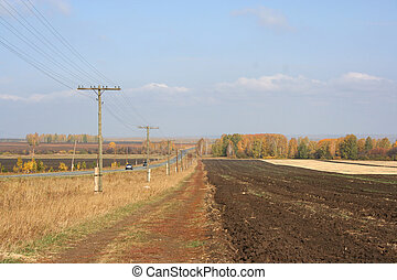 Fields in autumn