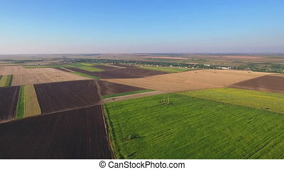 Fields with types of agriculture - Fields with various types...