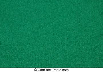 fieltro, fondo verde