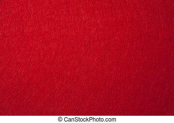fieltro, textura, plano de fondo, rojo