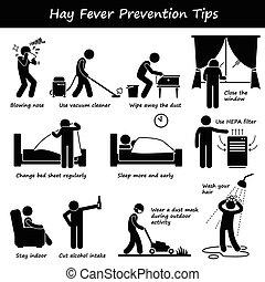 fieno, punte, allergia, prevenzione, febbre