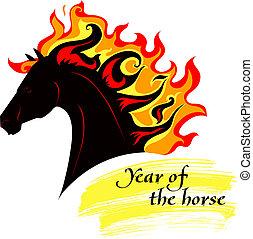 fiery, 馬, たてがみ