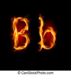 fiery, b, font., 手紙