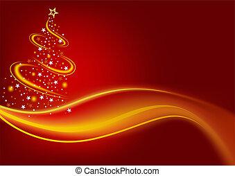 Fiery Christmas Tree