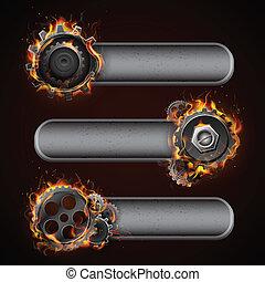 Fiery Cog Wheel
