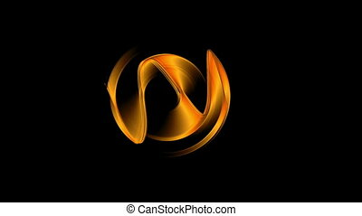 Fiery Dynamic Rotational Motion - Orange gear rotating,...