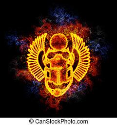 Fiery egyptian scarab.