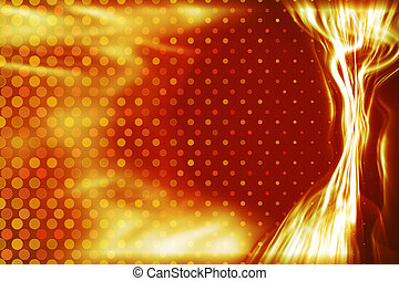 fiery energy light beam background