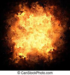Fiery Exploding Burst Background