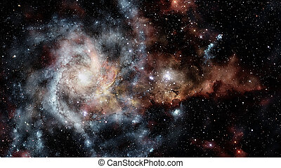 Fiery explosion in space. Elements of this image furnished...