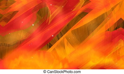 Fiery fantasy projection of flames, symbol of hell, warm...