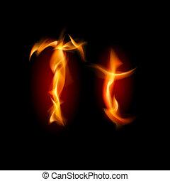 fiery, font., 手紙, t