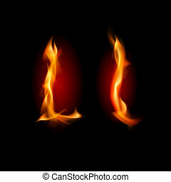 fiery, font., 手紙l