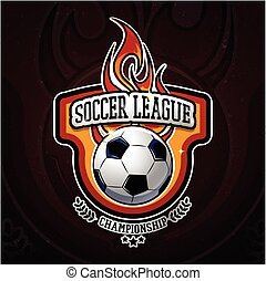 Fiery Football Colorful Logotype