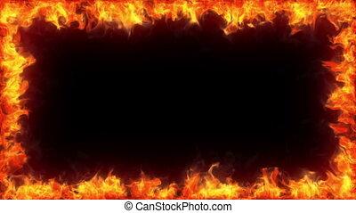 Fiery frame, alpha