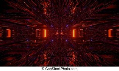 Fiery Game Field Adventure Portal 4k uhd 3d rendering vj ...