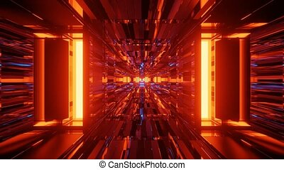 Fiery Glowing Endless Tunnel 4k uhd 3d rendering vj loop - ...