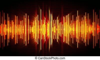 Fiery high-tech waveform background - Fiery high-tech...