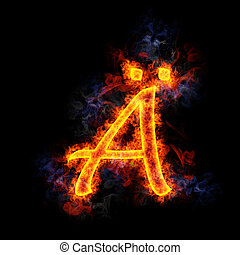 Fiery letter ?.