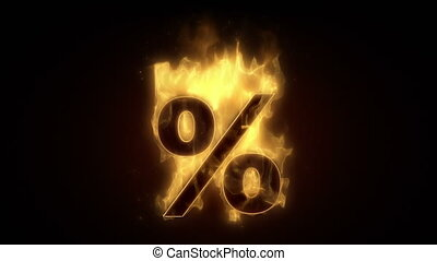 Fiery percent  sign  burning in loo