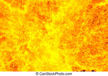 Fiery red background, computer simulation of a bright flame