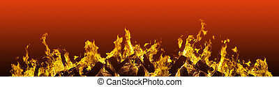fiery red blazing flames fire border - blazing flames fire...