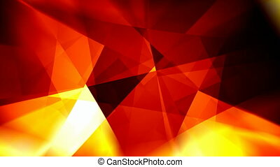 Fiery rotating triangles abstract motion background seamless loop