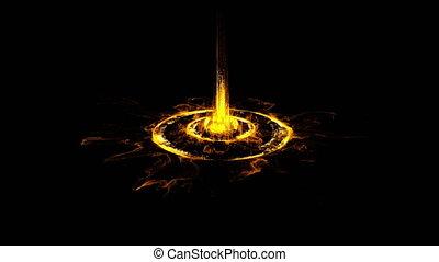 Fiery Sci-fi Gate