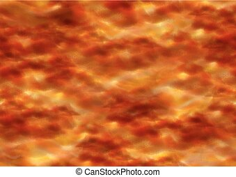 Fiery Sky with Orange Clouds Seamless