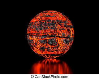 Fiery sphere