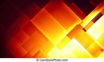 Fiery squares abstract motion background seamless loop -...