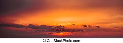 Fiery  sunset sky