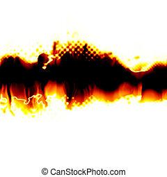 Fiery Torn Layout